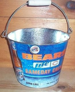 MILLER LITE BEARS NFL METAL BEER ICE BUCKET COOLER NEW