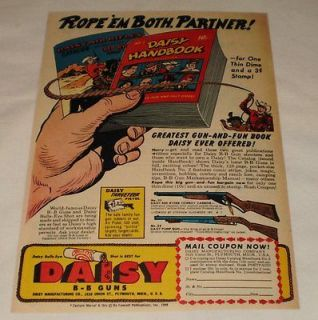1949 Daisy RED RYDER bb gun air rifle ad page ~ ROPE EM BOTH