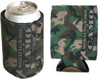 Green Morning Wood Camo can cooler koozie hugger koolie