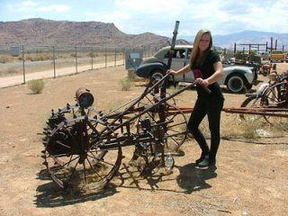 ANTIQUE STEEL WHEEL GARDEN TRACTOR GAS ENGINE OLD MOTOR vintage