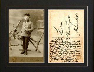 Repro Hand signed card Oskar Schindler WWII Nazi Concentration Camp