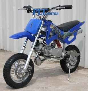 KID 49CC 50CC 2 STROKE GAS MOTOR MINI BIKE DIRT PIT BIKE BLUE H DB49A