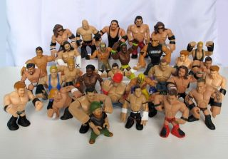 WWF Wrestling Wrestlers RUMBLERS Action Figures Toys Random Lot Loose