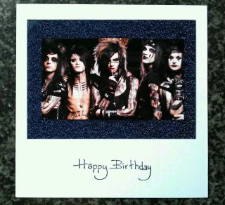 BLACK VEIL BRIDES ANDY SIXX BIRTHDAY CARD WITH 3D IMAGE (OTHER