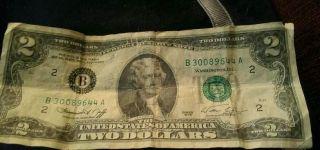 1976 Bicentennial Two Dollar Bill Note # K14179670A