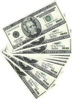 10 (ten) $20 Twenty Dollar bills, consecutive serial numbers, Series