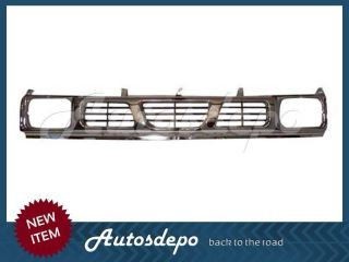 1994 1995 1996 1997 NISSAN HARDBODY TRUCK CHROME GRILLE (Fits: Nissan)