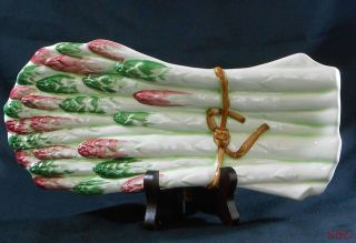 Ceramiche Leonardo Asparagus Collectible Spoon Rest Dish Made in Italy