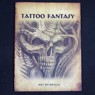 XENIJA TATTOO FANTASY Sketchbook TATTOO FLASH BOOK A4 Sketch 11.3*8