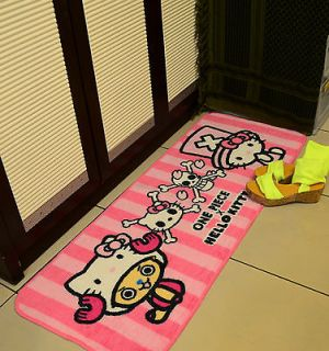 NEW2012 Unique One Piece x Hello Kitty Balcony Rug Bedside Mat Carpet