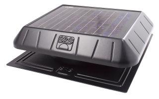 SunRise Solar Attic Vent Fan 20 Watt Panel Flat Base Thermostat