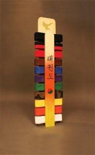Martial Arts Taekwondo Handmade Belt Display Rack New
