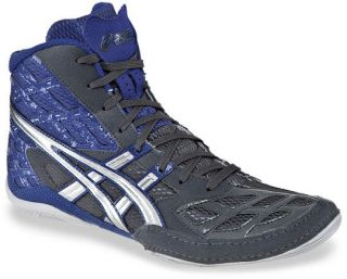 Mens Asics Split Second 9 Wrestling Shoe Graphite / Silver / Royal