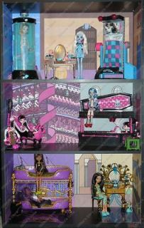 High Dead Tired Bedroom Bookcase Kit.Powder Room, Doll House, Bed