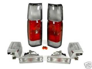 90 97 NISSAN HARDBODY PICKUP CLEAR CORNER + TAIL LIGHTS (Fits: Nissan)