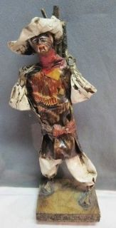 VTG JALISCO~MEXICA​N FOLK ART PAPER MACHE SCULPTURE DOLL~MAYO STATUE