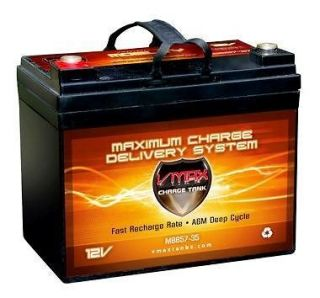 VMAX MB857 35 12V AGM group U1maint free battery solar wind deep cycle