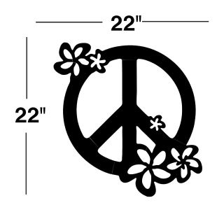 PEACE SIGN VINYL DECAL sticker wall art car decor window mural 00067