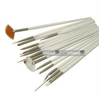 15pcs Nail Art Gel Design Painting Pen Polish Brush Set