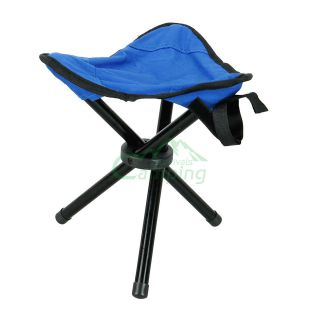 Outdoor Hiking Fishing Portable Folding Chair With 3 Legs Stool#C540