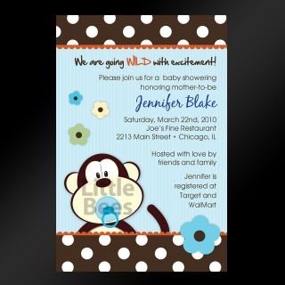 Jungle Birthday or Baby Shower Invitations   Set of 10   Any Color
