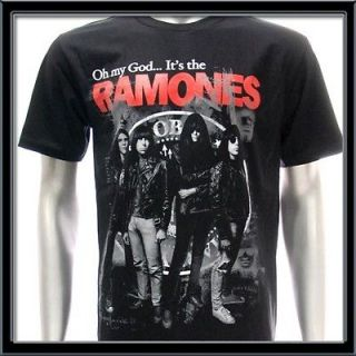Ramones T shirt Vtg American Retro Rock Band Punk Heavy Metal Biker