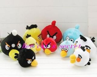 6PCS Nice New angry funny Birds Space Plush,factory Price 4 inches 1