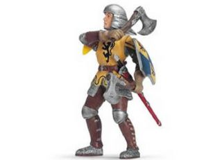 NEW FOOT SOLDIER W THROWING AXES World of Knights SCHLEICH 70062