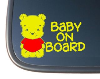 Baby Pooh Bear BABY ON BOARD Vinyl Car Decal Sticker