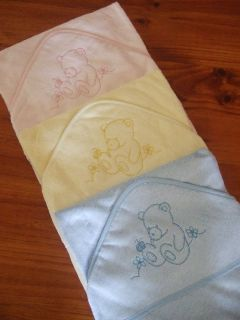 Baby Hooded Bath Towel Bamboo Fibre with Hood New Soft Blue Pink