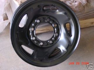16 1994 1999 DODGE 2500 NEW BLACK STEEL WHEEL 2042