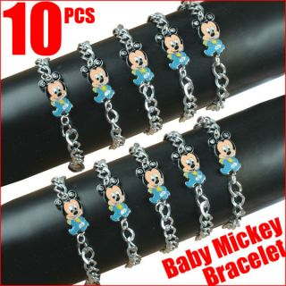 Lot 10pcs Disney Baby Mickey Mouse Bracelets Baby Shower Birthday