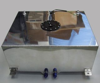 Polished Aluminum 20 Gallon Fuel Cell Tank 24(L) x 20(W) x 10(H)