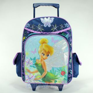 Flowers and Butterfly 16 Rolling Backpack   Roller Bag Girls