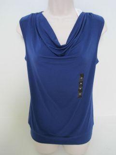 BANANA REPUBLIC Womens Royal Blue Drape Front Sleeveless Top Size XS