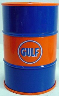 First Gear Gulf Oil 55 Gallon Oil Drum Coin Bank 1/6th scale