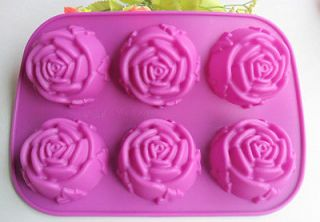 Rose silicone mold Cake pan baking mold DIY chocolate jelly mould