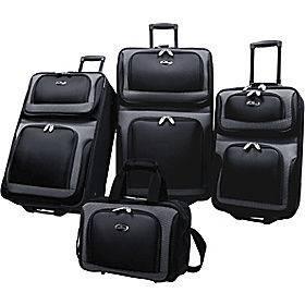 US Traveler New Yorker 4 Piece Luggage Set