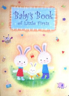 BOOK OF LITTLE FIRSTS   UNISEX BABY GIFT MEMORIES KEEPSAKE RECORD BOOK