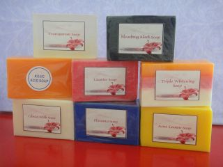 SKIN WHITENING SOAPS; KOJIC ACID OR FRUITONE PAPAYA