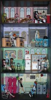 Monster High School Doll House Bookcase Kit   Mad Science, Home Ick