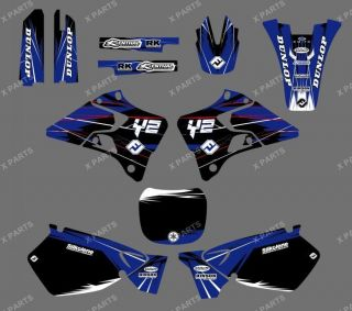 TEAM GRAPHICS BACKGROUNDS DECALS STICKERS YAMAHA YZ125 YZ250 1999 2000