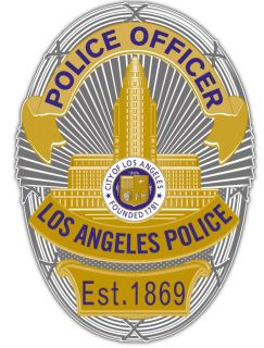 Los Angeles Police Department LAPD Badge Car Bumper Window Sticker