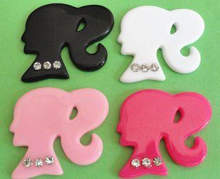 20PCS stones of Resin Barbie Girl Flatback Button 4 colors (pick color