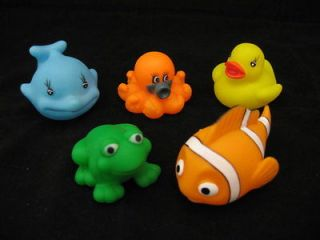 Pcs Baby Bath Toy Yellow Duck Frog Dolphin Clown Fish