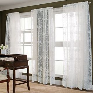 JC Penney White Rose Sheer Curtains