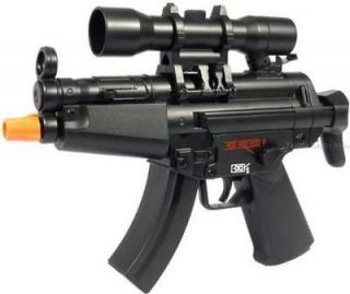 MINI MP5 ELECTRIC AUTOMATIC AIRSOFT RIFLE GUN SCOPE shotgun bb pistol