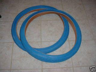 BICYCLE TIRES BLUE FOR CRUZER BEACH BIKES BALLOON TIRES
