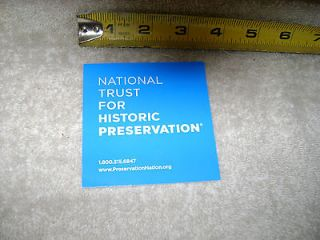 National Trust For Historic Preservation Bumper / window Sticker