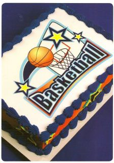 Basketball Edible Image ~ Edible Image Icing Cake Topper ~ !!!